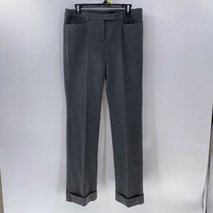 Express stretch gray cuffed flannel trouser pants